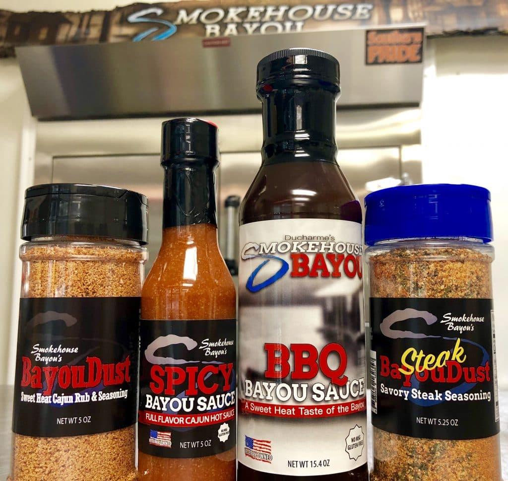 meat rub, bbq spices, smokehouse bayou dust, steak sauce, steak dry rub
