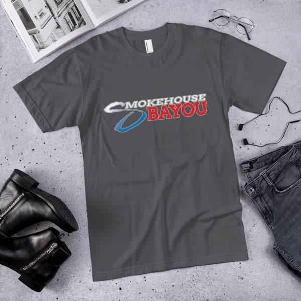beef jerky, gray shirt, shirts, apparel, smokehouse swag, smokehouse gear
