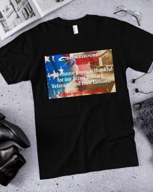 beef jerky, black veterans shirt, shirts, apparel, smokehouse swag, smokehouse gear